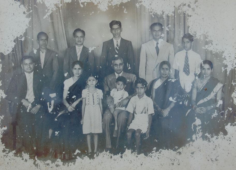 Gopal's family, I believe he is the little boy in his mothers lap.