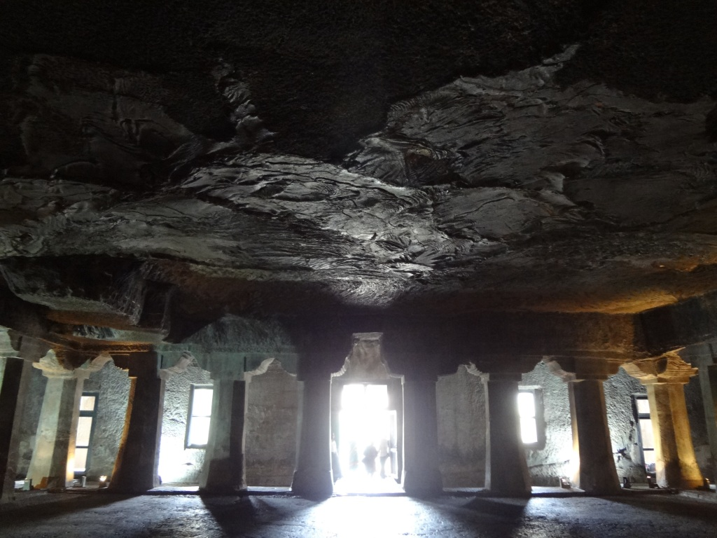 Volcanic stone ceiling