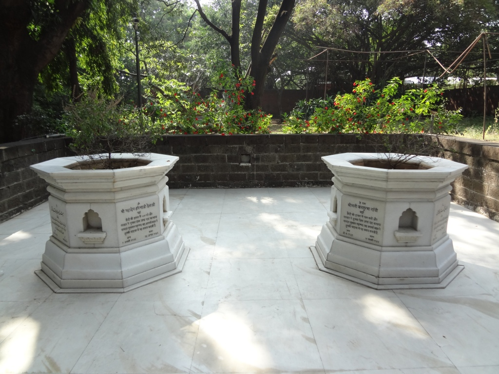Kasturba Gandhi and Mahadev Desai's ashes.